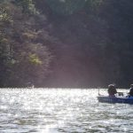亀山湖にてペンタックスにて撮影