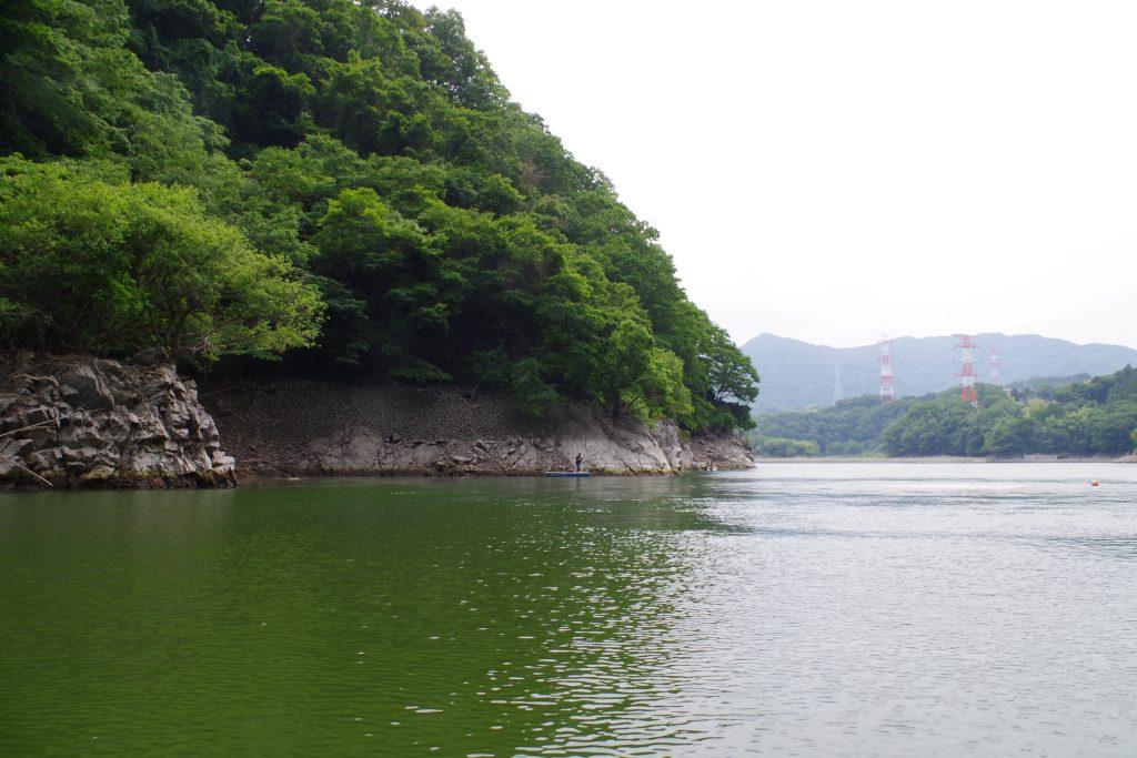 津久井湖の減水状態
