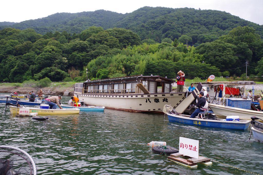 津久井湖スタート時点
