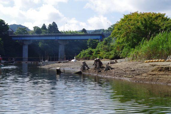 亀山ダムのむらボート横減水スタンプ
